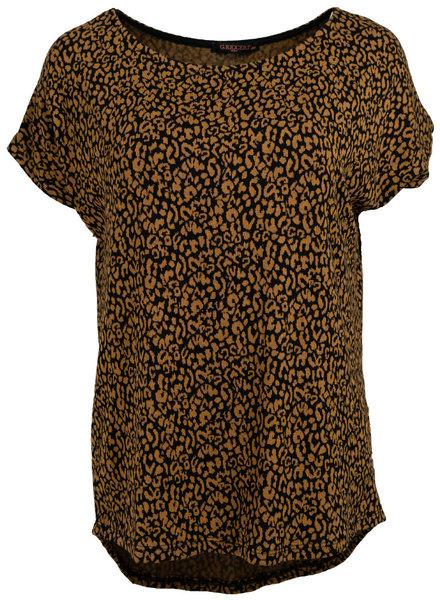 Gemma Ricceri Shirt Tess zwart/okergeel