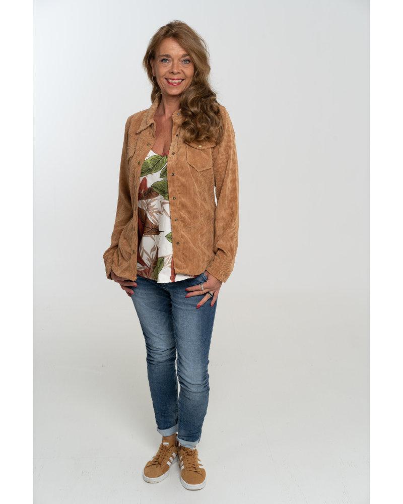 Gemma Ricceri Blouse corduroy camel