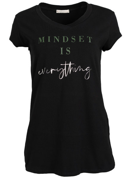 Gemma Ricceri Shirt Mindset zwart/groen