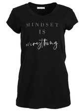 Gemma Ricceri Shirt Mindset zwart/grijs
