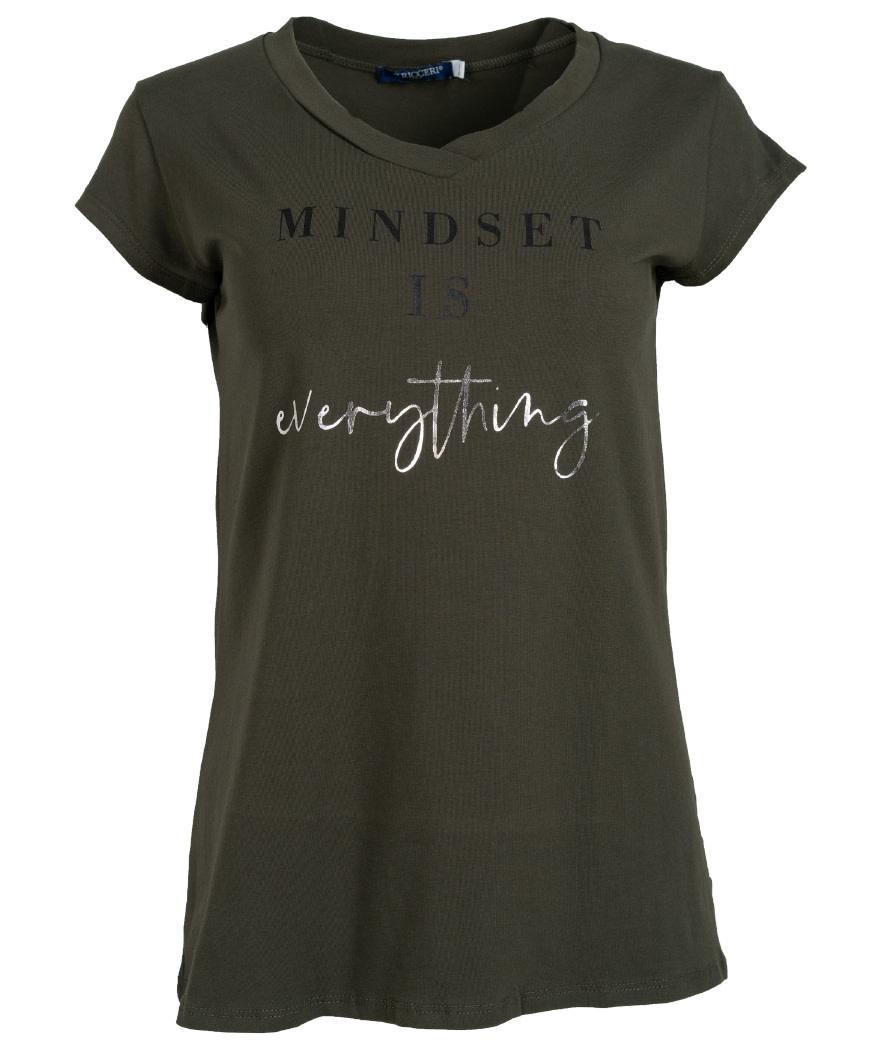 Gemma Ricceri Shirt Mindset groen/zwart