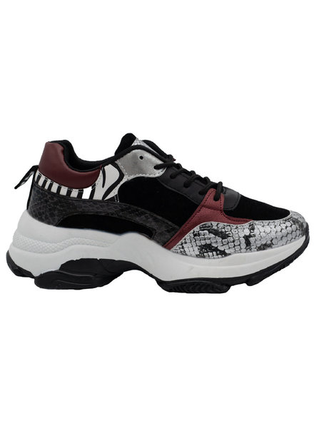 Wannahavesfashion Sneaker Kay zwart/bordeaux
