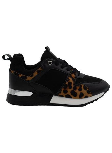 Wannahavesfashion Sneaker Mody zwart/camel