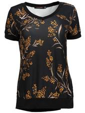 Gemma Ricceri Shirt Kelly zwart/okergeel