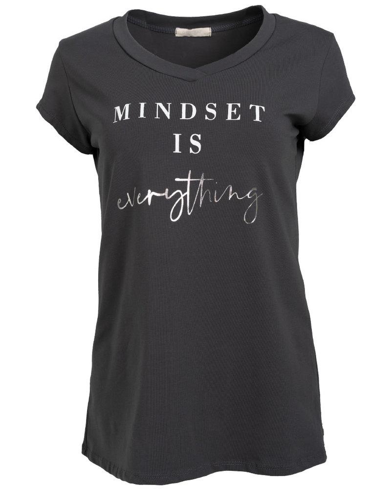 Gemma Ricceri Shirt Mindset antraciet/wit