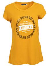 Gemma Ricceri Shirt Liberte okergeel