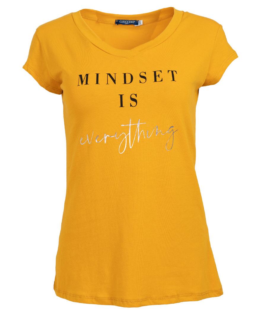 Gemma Ricceri Shirt Mindset okergeel/zwart