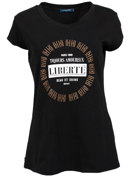 Gemma Ricceri Shirt Liberte zwart/camel