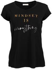 Gemma Ricceri Shirt Mindset zwart/okergeel