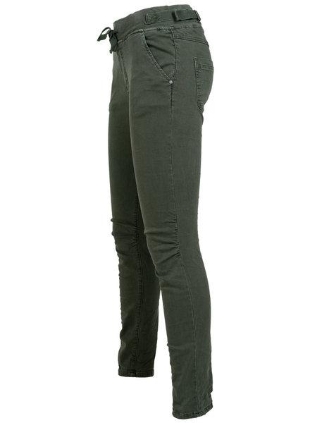 Melly&Co Jog jeans MC groen