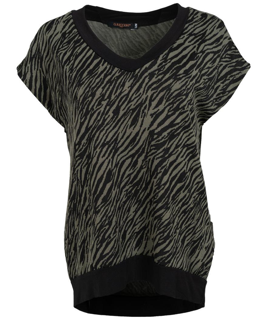 Gemma Ricceri Shirt Mandy zwart/groen