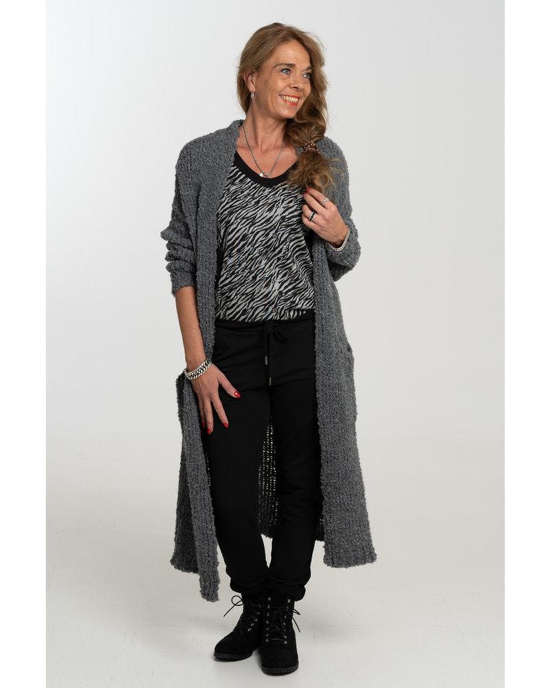 Gemma Ricceri Shirt Mandy zwart/grijs