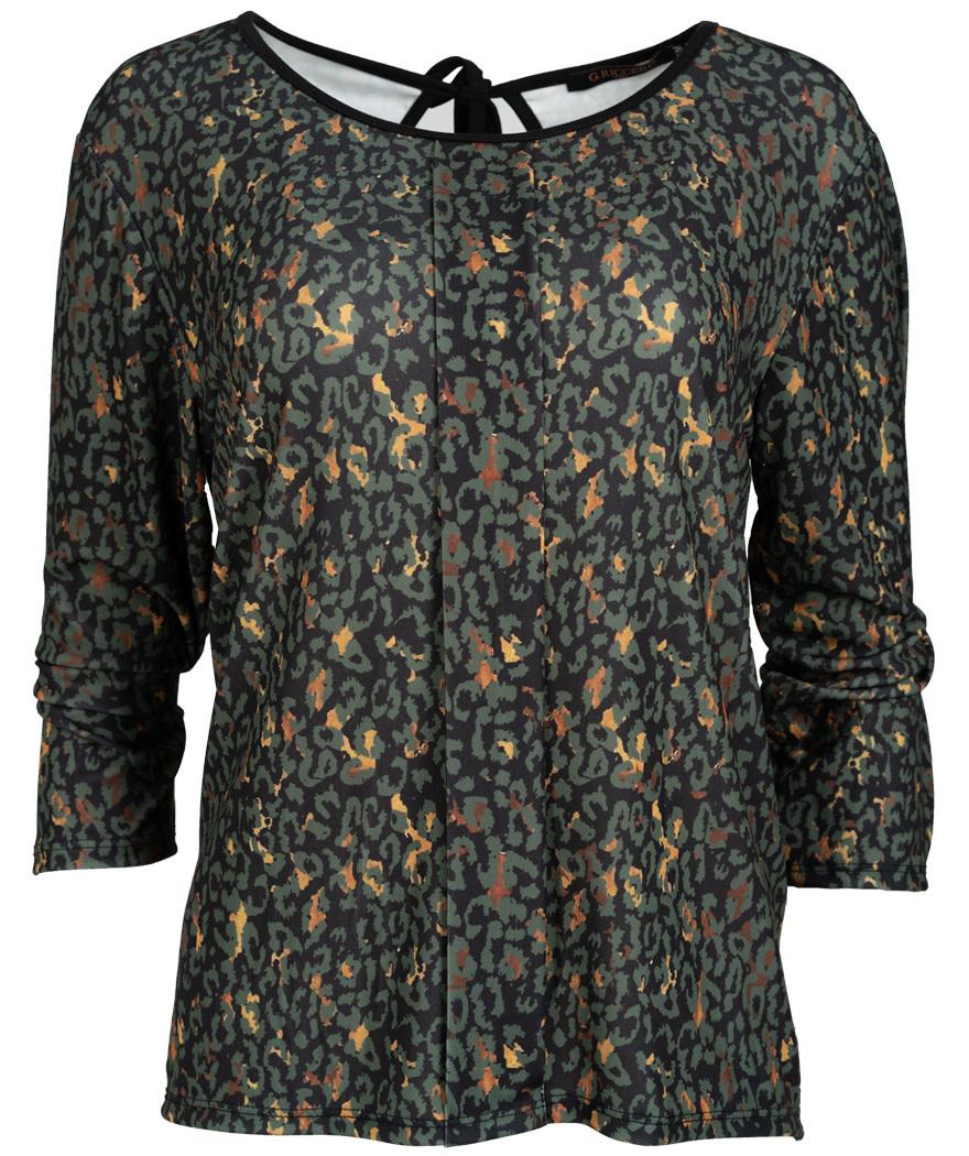 Gemma Ricceri Shirt Brenda zwart/groen