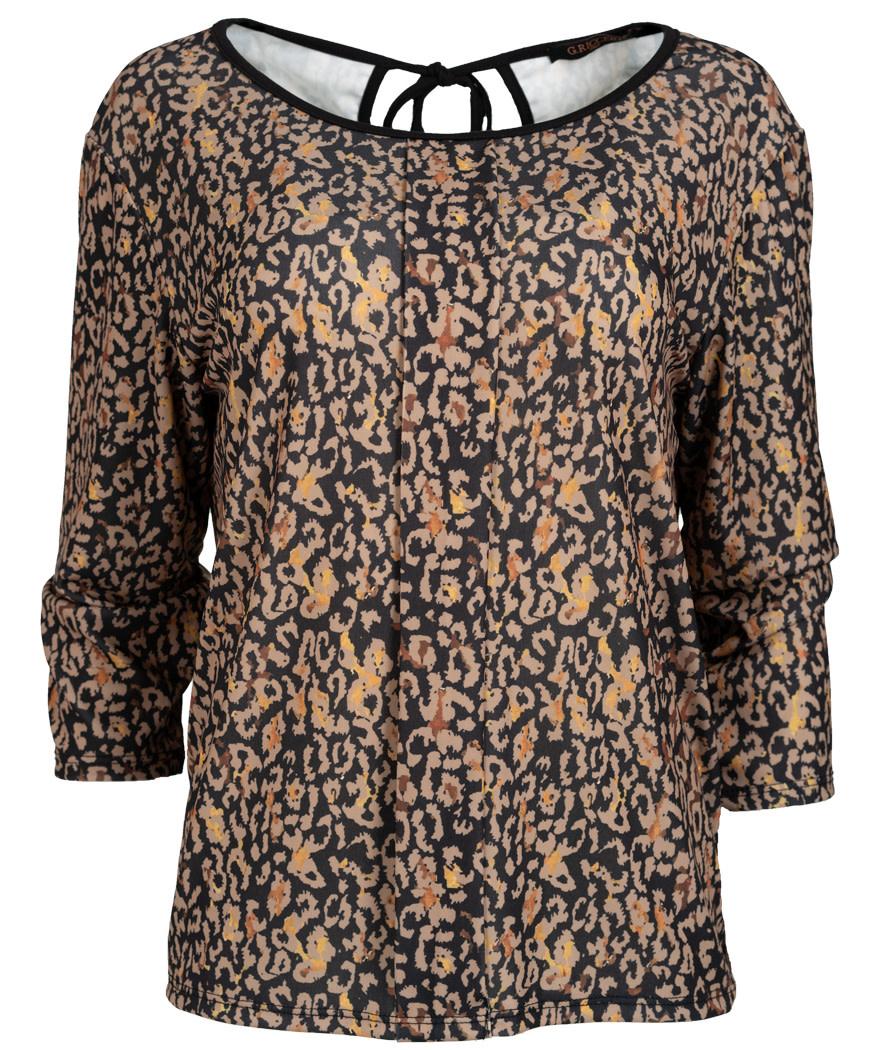 Gemma Ricceri Shirt Brenda zwart/okergeel