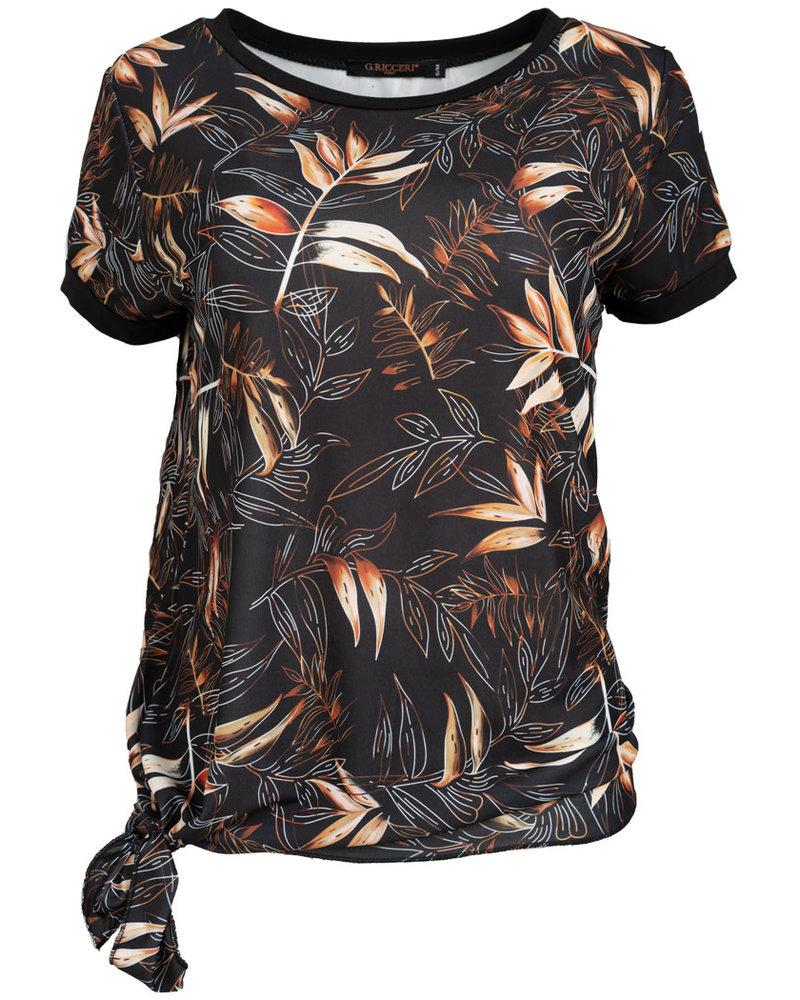 Gemma Ricceri Shirt Nova zwart/camel