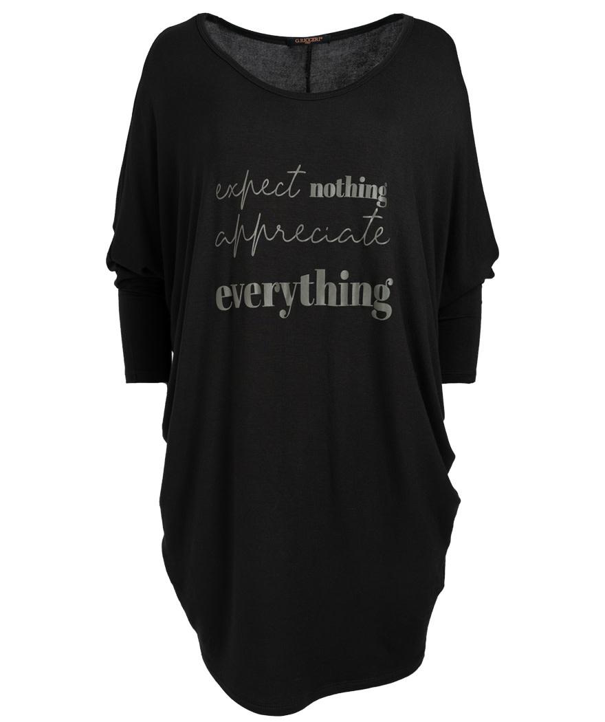 Gemma Ricceri Shirt oversized everything zwart/groen