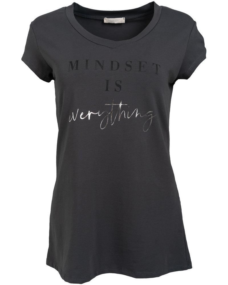 Gemma Ricceri Shirt mindset antraciet/zwart
