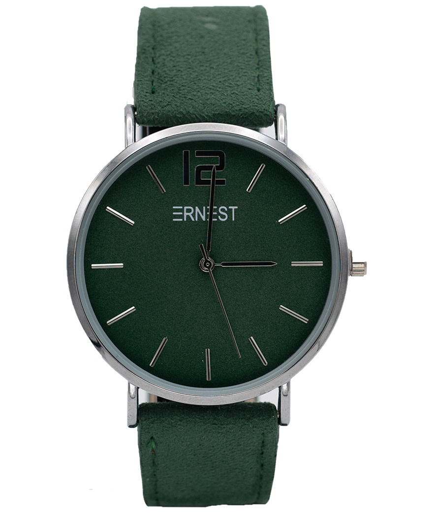 Ernest Horloge suedine groen