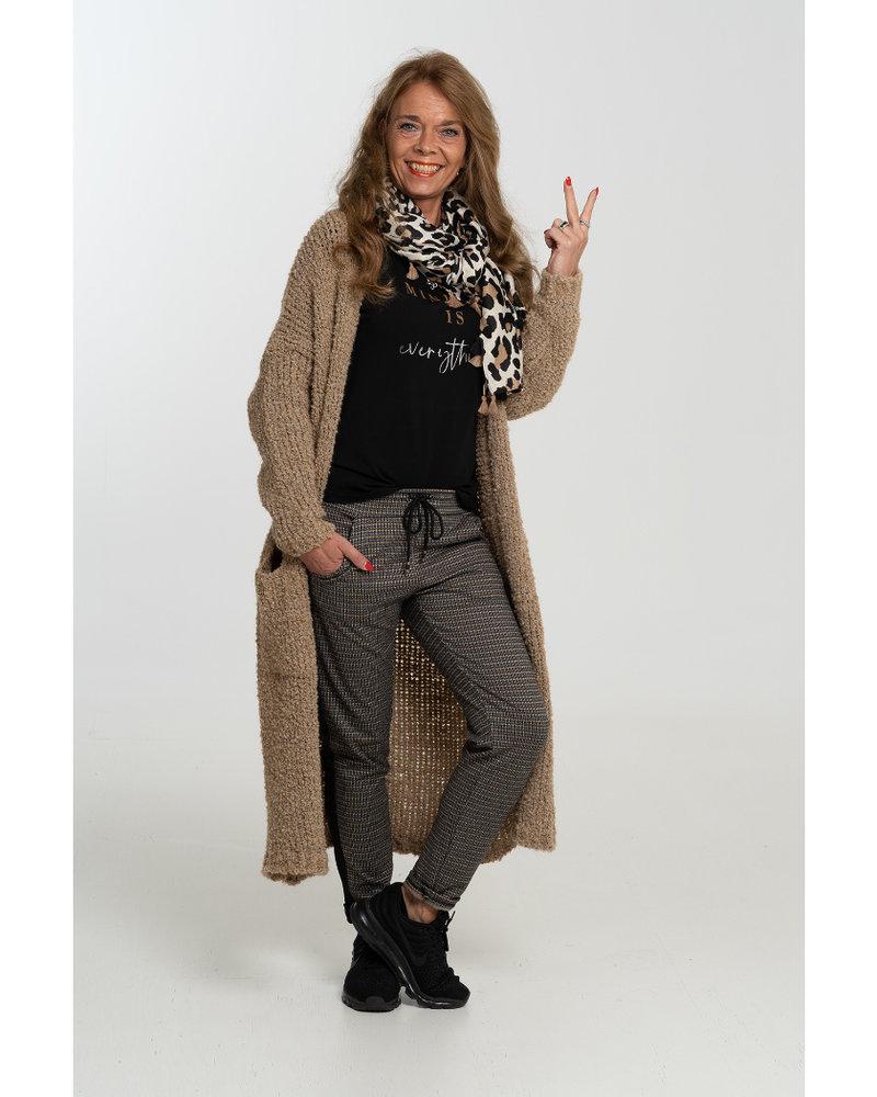 Gemma Ricceri Joggingbroek Marion zwart/camel