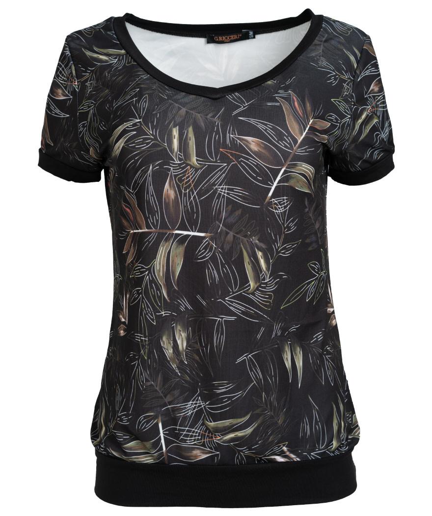 Gemma Ricceri Shirt Hilde zwart/groen