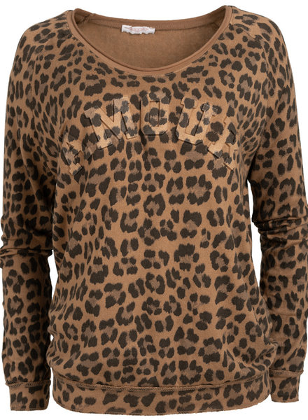 Gemma Ricceri Sweater Nienke panterprint camel