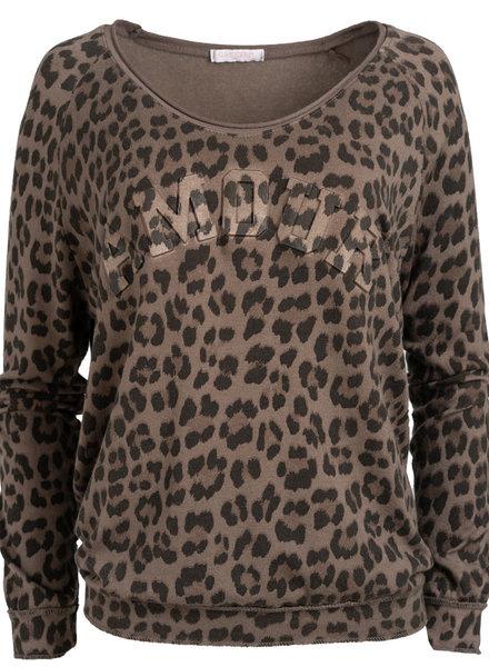 Gemma Ricceri Sweater Nienke panterprint bruin
