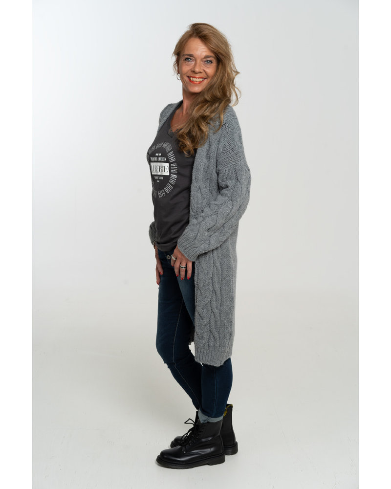 Gemma Ricceri Shirt Liberte antraciet