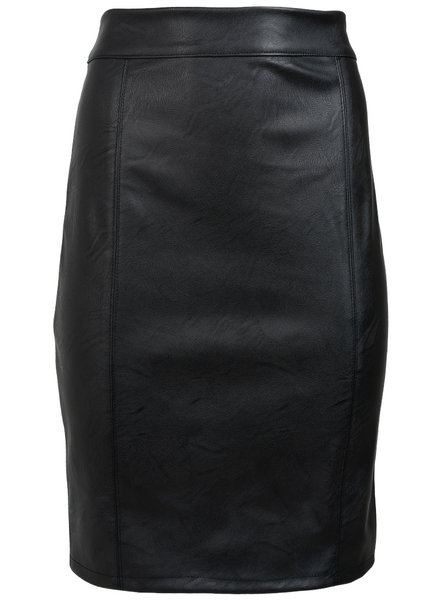 Gemma Ricceri Rok leather look zwart