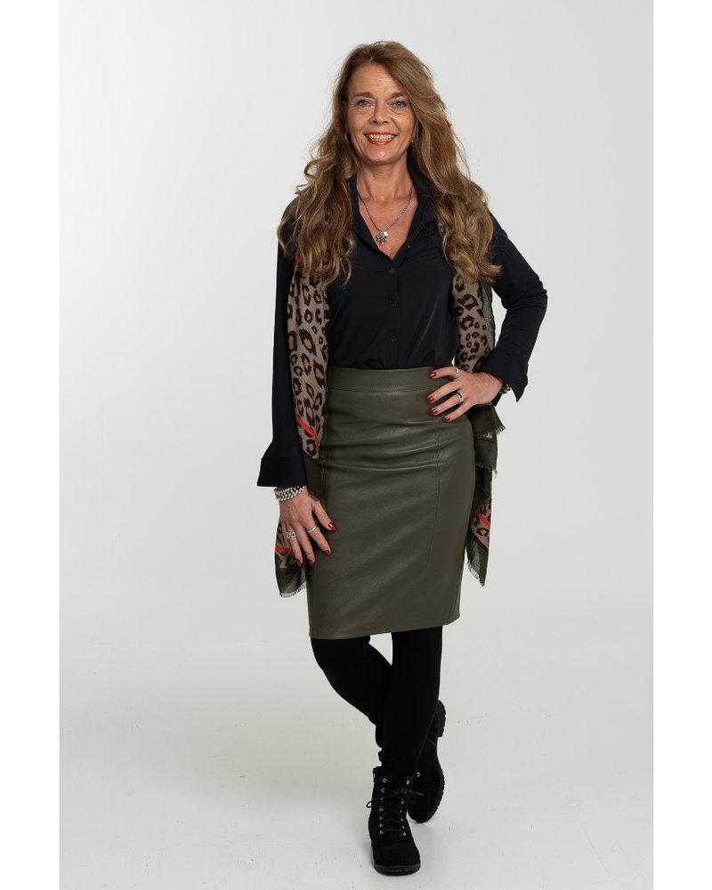 Gemma Ricceri Rok leather look groen