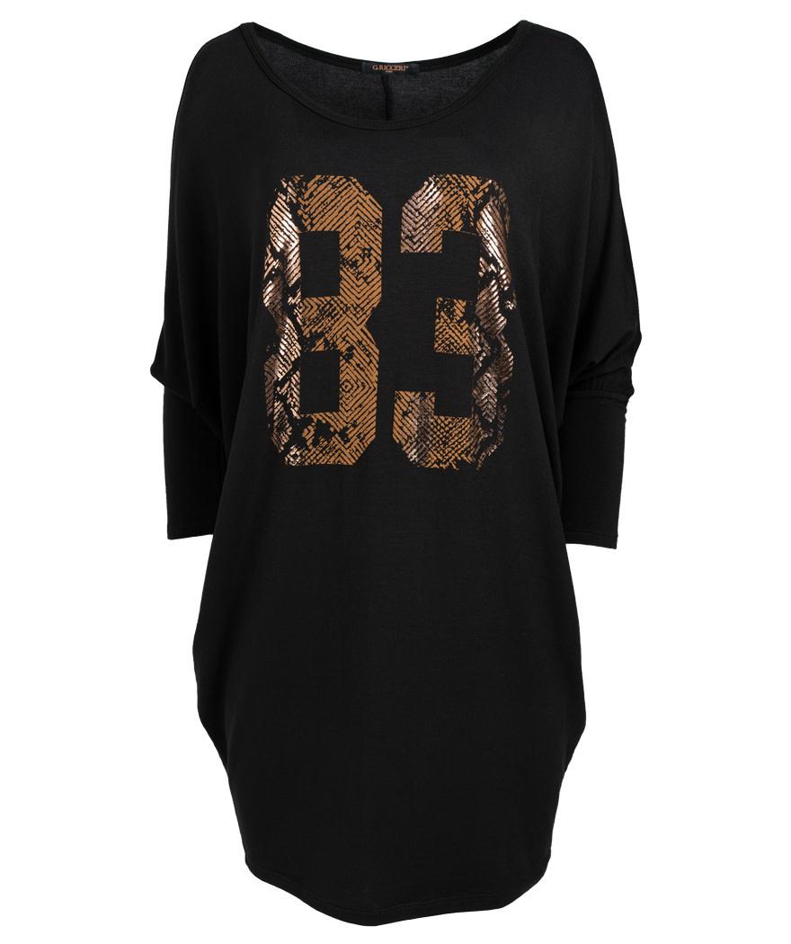 Gemma Ricceri Tuniek oversized 83 zwart