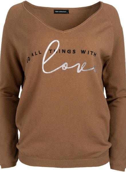 Gemma Ricceri Sweater love camel