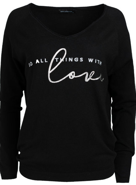 Gemma Ricceri Sweater love zwart