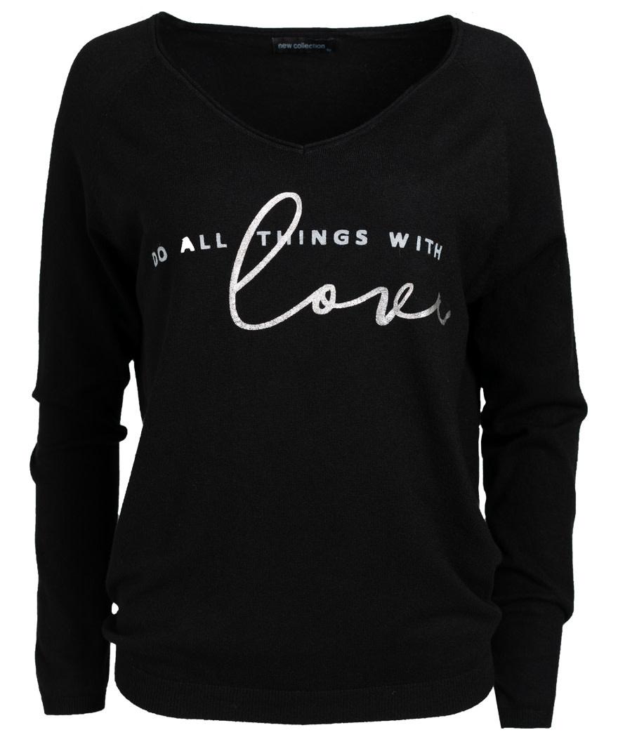 Gemma Ricceri Sweater love zwart