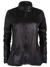 Gemma Ricceri Blazer Leather look zwart