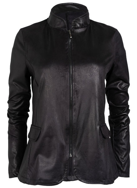 Gemma Ricceri Blazer Leather look zwart