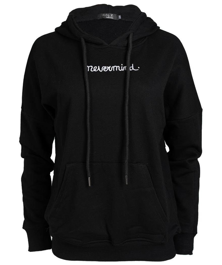 Rebelz Collection Hoody nevermind zwart