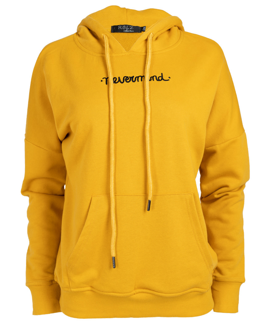 Rebelz Collection Hoody never mind okergeel
