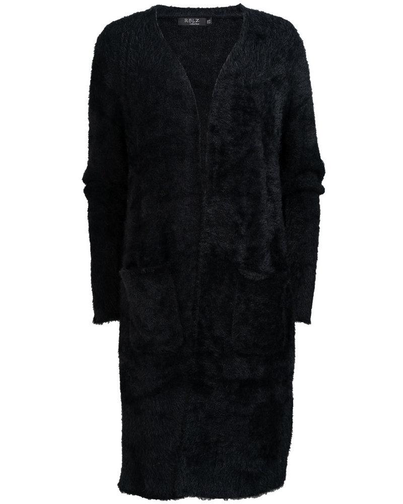Rebelz Collection Vest fluffy zwart