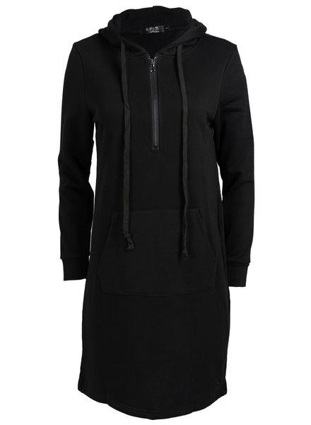 Rebelz Collection Sweaterdress hoody zwart