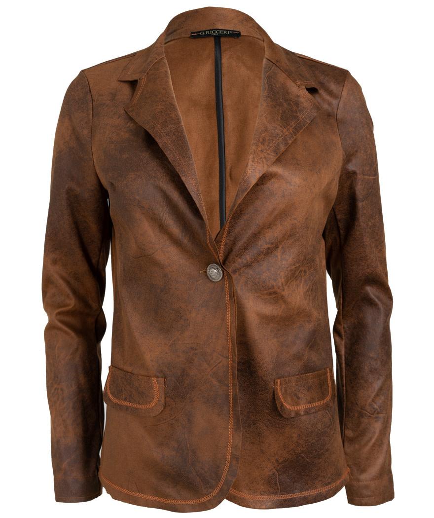 Gemma Ricceri Blazer Lana leather look camel