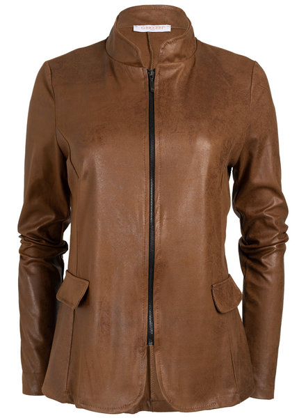 Gemma Ricceri Blazer Leather look camel