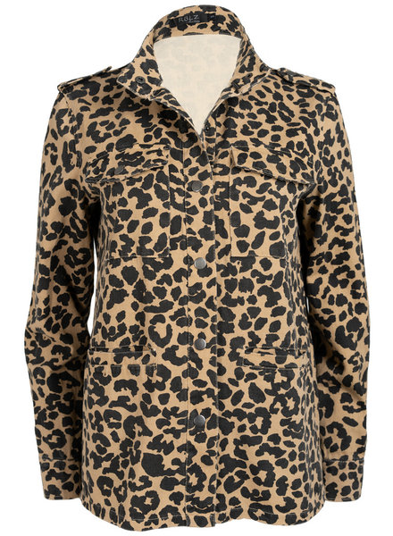 Rebelz Collection Jacket Denim panterprint camel/zwart