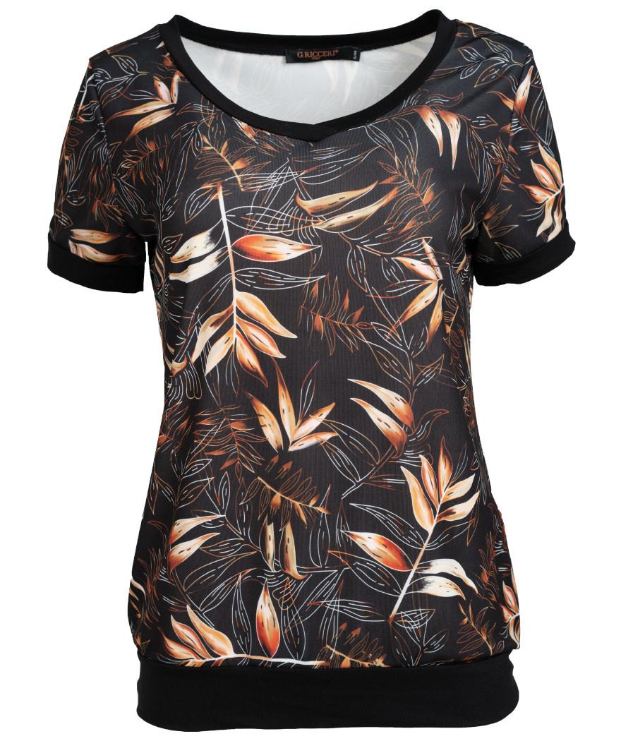 Gemma Ricceri Shirt Hilde zwart/camel