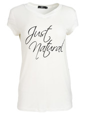 Wannahavesfashion Shirt just natural wit/zwart