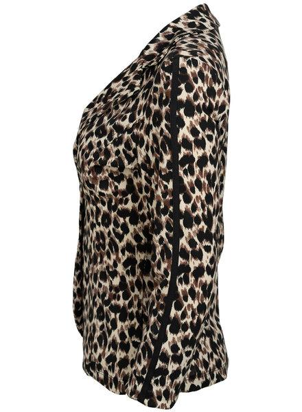 Vera Jo Blazer panter Coby bruin/zwart