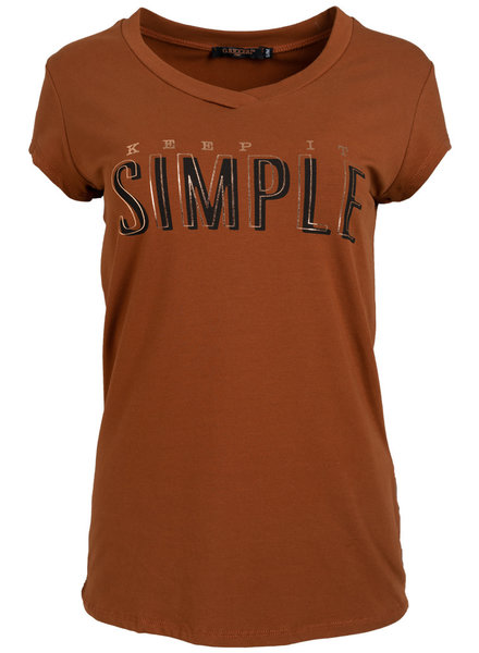 Gemma Ricceri Shirt Simple camel
