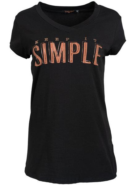 Gemma Ricceri Shirt Simple zwart/camel