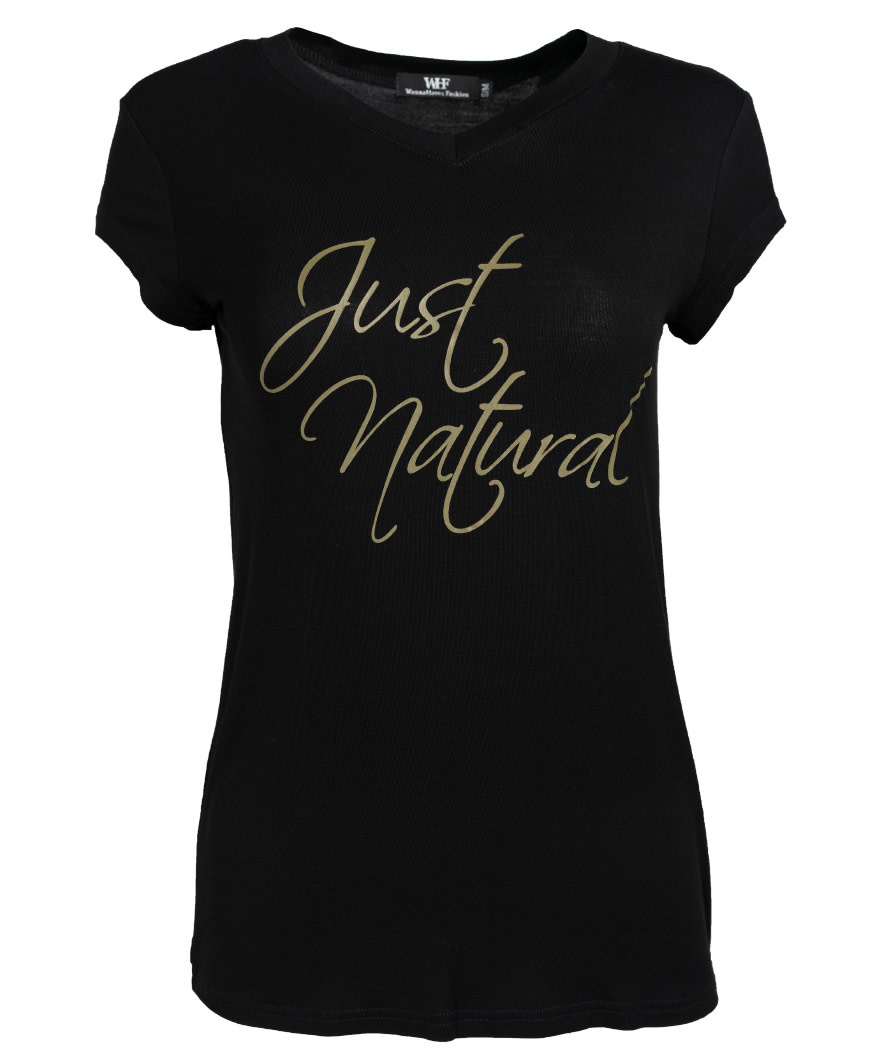 Wannahavesfashion Shirt just natural zwart/groen