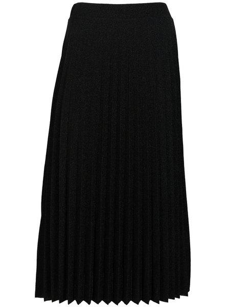 Gemma Ricceri Rok plissé lurex zwart