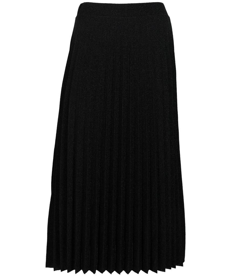 Gemma Ricceri Rok plisse lurex zwart